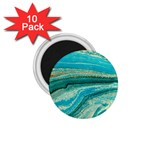 Mint,gold,marble,nature,stone,pattern,modern,chic,elegant,beautiful,trendy 1.75  Magnets (10 pack)  Front