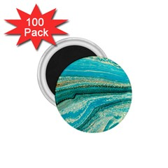 Mint,gold,marble,nature,stone,pattern,modern,chic,elegant,beautiful,trendy 1 75  Magnets (100 Pack)