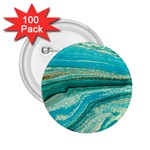 Mint,gold,marble,nature,stone,pattern,modern,chic,elegant,beautiful,trendy 2.25  Buttons (100 pack)  Front