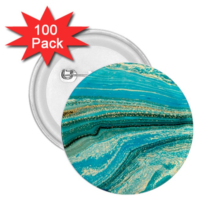 Mint,gold,marble,nature,stone,pattern,modern,chic,elegant,beautiful,trendy 2.25  Buttons (100 pack)