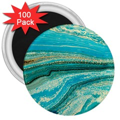 Mint,gold,marble,nature,stone,pattern,modern,chic,elegant,beautiful,trendy 3  Magnets (100 Pack)