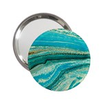Mint,gold,marble,nature,stone,pattern,modern,chic,elegant,beautiful,trendy 2.25  Handbag Mirrors Front
