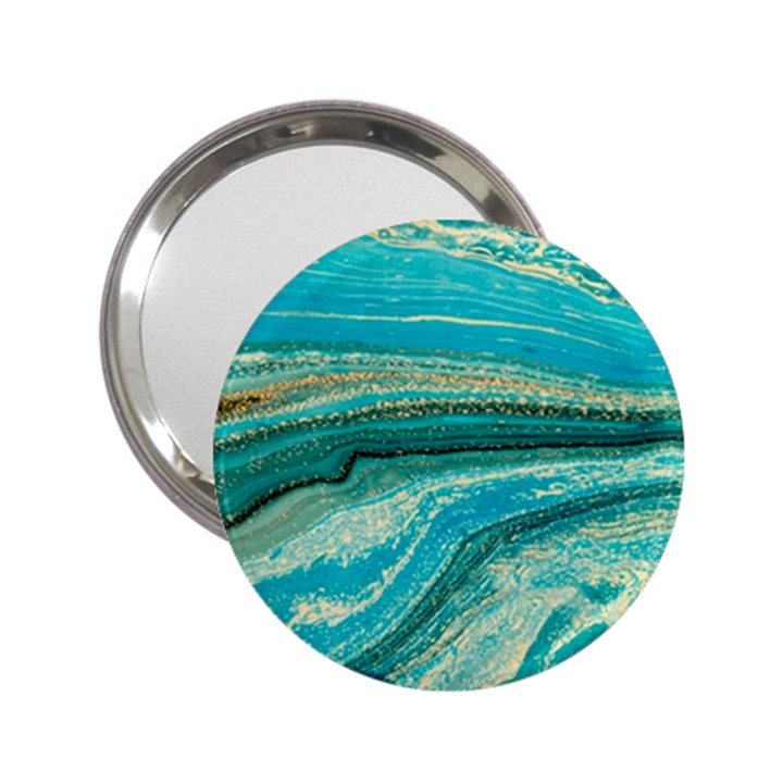 Mint,gold,marble,nature,stone,pattern,modern,chic,elegant,beautiful,trendy 2.25  Handbag Mirrors