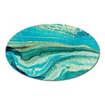 Mint,gold,marble,nature,stone,pattern,modern,chic,elegant,beautiful,trendy Oval Magnet Front