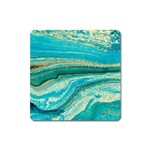 Mint,gold,marble,nature,stone,pattern,modern,chic,elegant,beautiful,trendy Square Magnet Front