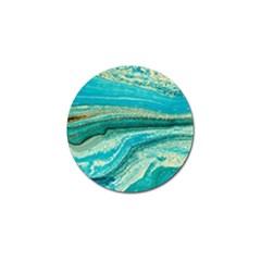 Mint,gold,marble,nature,stone,pattern,modern,chic,elegant,beautiful,trendy Golf Ball Marker (4 Pack)