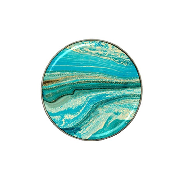 Mint,gold,marble,nature,stone,pattern,modern,chic,elegant,beautiful,trendy Hat Clip Ball Marker