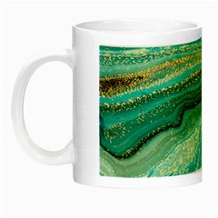 Mint,gold,marble,nature,stone,pattern,modern,chic,elegant,beautiful,trendy Night Luminous Mugs