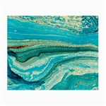 Mint,gold,marble,nature,stone,pattern,modern,chic,elegant,beautiful,trendy Small Glasses Cloth Front