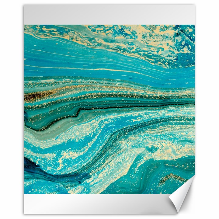 Mint,gold,marble,nature,stone,pattern,modern,chic,elegant,beautiful,trendy Canvas 16  x 20