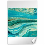 Mint,gold,marble,nature,stone,pattern,modern,chic,elegant,beautiful,trendy Canvas 20  x 30   30 x20 Canvas - 1