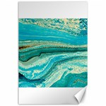 Mint,gold,marble,nature,stone,pattern,modern,chic,elegant,beautiful,trendy Canvas 24  x 36  36 x24 Canvas - 1
