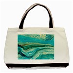 Mint,gold,marble,nature,stone,pattern,modern,chic,elegant,beautiful,trendy Basic Tote Bag (Two Sides) Back