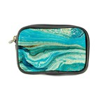 Mint,gold,marble,nature,stone,pattern,modern,chic,elegant,beautiful,trendy Coin Purse Front