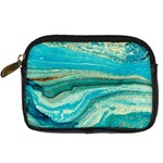 Mint,gold,marble,nature,stone,pattern,modern,chic,elegant,beautiful,trendy Digital Camera Cases Front