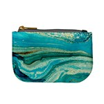 Mint,gold,marble,nature,stone,pattern,modern,chic,elegant,beautiful,trendy Mini Coin Purses Front