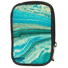 Mint,gold,marble,nature,stone,pattern,modern,chic,elegant,beautiful,trendy Compact Camera Cases
