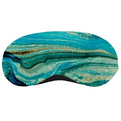 Mint,gold,marble,nature,stone,pattern,modern,chic,elegant,beautiful,trendy Sleeping Masks