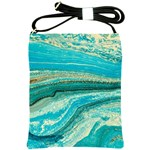 Mint,gold,marble,nature,stone,pattern,modern,chic,elegant,beautiful,trendy Shoulder Sling Bags Front