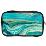 Mint,gold,marble,nature,stone,pattern,modern,chic,elegant,beautiful,trendy Toiletries Bags Front