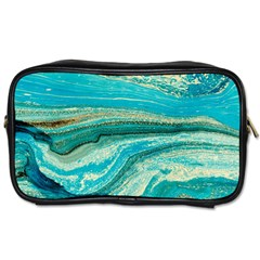 Mint,gold,marble,nature,stone,pattern,modern,chic,elegant,beautiful,trendy Toiletries Bags 2 Side