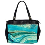 Mint,gold,marble,nature,stone,pattern,modern,chic,elegant,beautiful,trendy Office Handbags (2 Sides)  Front