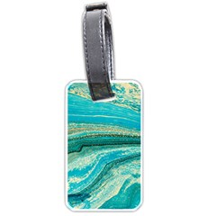 Mint,gold,marble,nature,stone,pattern,modern,chic,elegant,beautiful,trendy Luggage Tags (one Side)