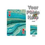 Mint,gold,marble,nature,stone,pattern,modern,chic,elegant,beautiful,trendy Playing Cards 54 (Mini)  Front - Heart10