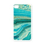Mint,gold,marble,nature,stone,pattern,modern,chic,elegant,beautiful,trendy Apple iPhone 4 Case (White) Front