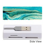 Mint,gold,marble,nature,stone,pattern,modern,chic,elegant,beautiful,trendy Memory Card Reader (Stick)  Front
