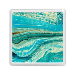 Mint,gold,marble,nature,stone,pattern,modern,chic,elegant,beautiful,trendy Memory Card Reader (square)