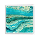 Mint,gold,marble,nature,stone,pattern,modern,chic,elegant,beautiful,trendy Memory Card Reader (Square)  Front