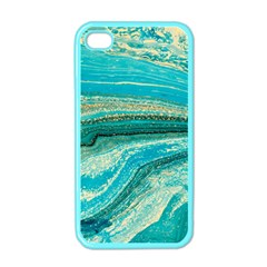 Mint,gold,marble,nature,stone,pattern,modern,chic,elegant,beautiful,trendy Apple Iphone 4 Case (color)