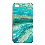 Mint,gold,marble,nature,stone,pattern,modern,chic,elegant,beautiful,trendy Apple iPhone 4/4s Seamless Case (Black) Front