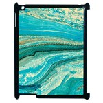 Mint,gold,marble,nature,stone,pattern,modern,chic,elegant,beautiful,trendy Apple iPad 2 Case (Black) Front