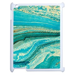 Mint,gold,marble,nature,stone,pattern,modern,chic,elegant,beautiful,trendy Apple Ipad 2 Case (white)