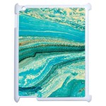 Mint,gold,marble,nature,stone,pattern,modern,chic,elegant,beautiful,trendy Apple iPad 2 Case (White) Front