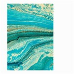 Mint,gold,marble,nature,stone,pattern,modern,chic,elegant,beautiful,trendy Small Garden Flag (Two Sides) Front