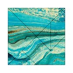 Mint,gold,marble,nature,stone,pattern,modern,chic,elegant,beautiful,trendy Acrylic Tangram Puzzle (6  x 6 ) Front