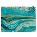 Mint,gold,marble,nature,stone,pattern,modern,chic,elegant,beautiful,trendy Cosmetic Bag (XXL)  Back