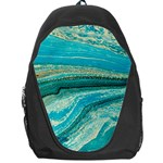 Mint,gold,marble,nature,stone,pattern,modern,chic,elegant,beautiful,trendy Backpack Bag Front