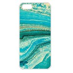 Mint,gold,marble,nature,stone,pattern,modern,chic,elegant,beautiful,trendy Apple iPhone 5 Seamless Case (White) Front