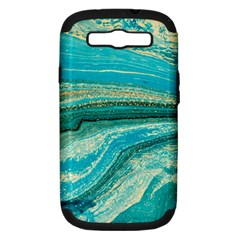 Mint,gold,marble,nature,stone,pattern,modern,chic,elegant,beautiful,trendy Samsung Galaxy S Iii Hardshell Case (pc+silicone)