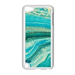 Mint,gold,marble,nature,stone,pattern,modern,chic,elegant,beautiful,trendy Apple iPod Touch 5 Case (White) Front