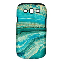 Mint,gold,marble,nature,stone,pattern,modern,chic,elegant,beautiful,trendy Samsung Galaxy S Iii Classic Hardshell Case (pc+silicone)