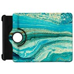 Mint,gold,marble,nature,stone,pattern,modern,chic,elegant,beautiful,trendy Kindle Fire HD 7  Front