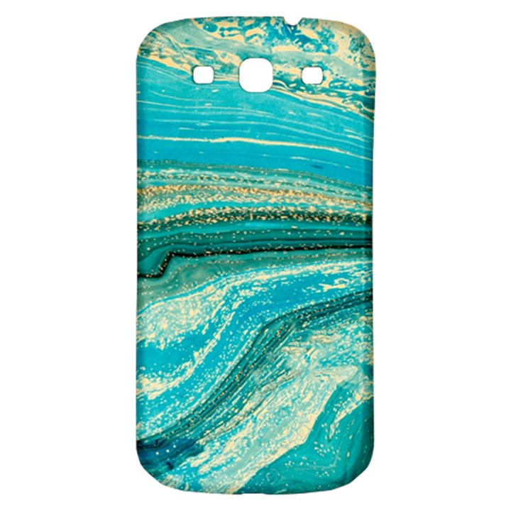 Mint,gold,marble,nature,stone,pattern,modern,chic,elegant,beautiful,trendy Samsung Galaxy S3 S III Classic Hardshell Back Case