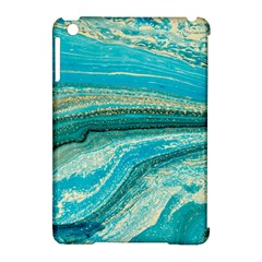 Mint,gold,marble,nature,stone,pattern,modern,chic,elegant,beautiful,trendy Apple Ipad Mini Hardshell Case (compatible With Smart Cover)