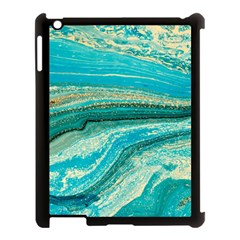 Mint,gold,marble,nature,stone,pattern,modern,chic,elegant,beautiful,trendy Apple Ipad 3/4 Case (black)