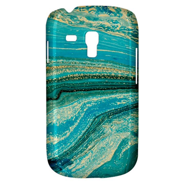 Mint,gold,marble,nature,stone,pattern,modern,chic,elegant,beautiful,trendy Galaxy S3 Mini